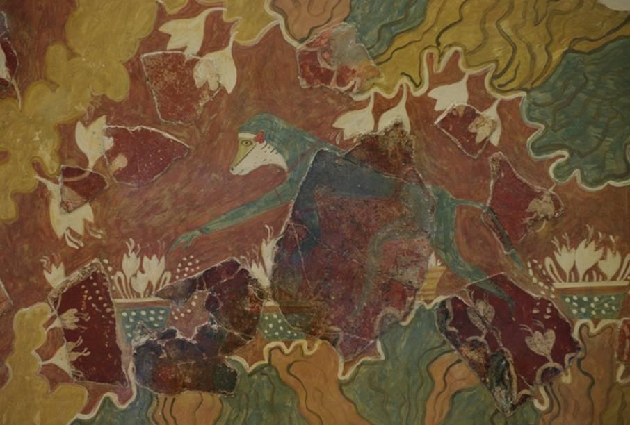 Ο κροκοσυλλέκτης πίθηκος - τοιχογραφία Κνωσός